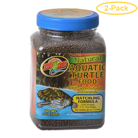 Zoo Med Natural Aquatic Turtle Food - Hatchling Formula (Pellets) 8 oz - Pack of