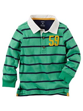 f4aea50d8c Product Image Baby Boys' L/S Striped Jersey Rugby Polo; Green (3M. Carter's