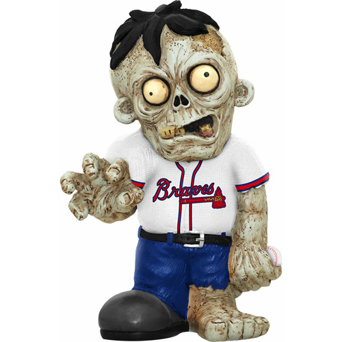 Forever Collectibles MLB Resin Zombie Figurine, Atlanta Braves