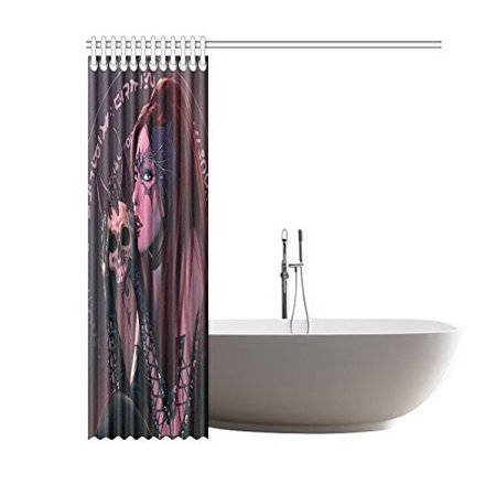 RYLABLUE The Witch And The Dragon With A SkullShower Curtain Bathroom Decor 66x72 Inch - image 2 of 2