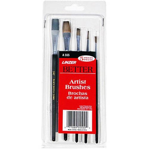 5-Pc. Artist Paint Brush Set