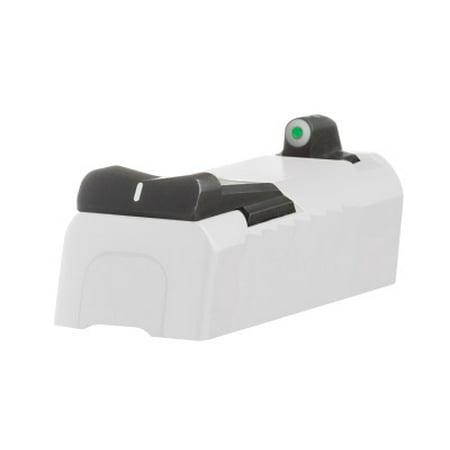 XS SIGHTS SW0024S3 DXW Big Dot S&W M&P Shield Green Tritium w/White Outline Front Black w/White Stripe