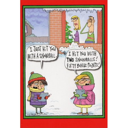 Humorous Christmas Cards.Nobleworks Fifty Bonus Points Box Of 12 Funny Humorous Christmas Cards