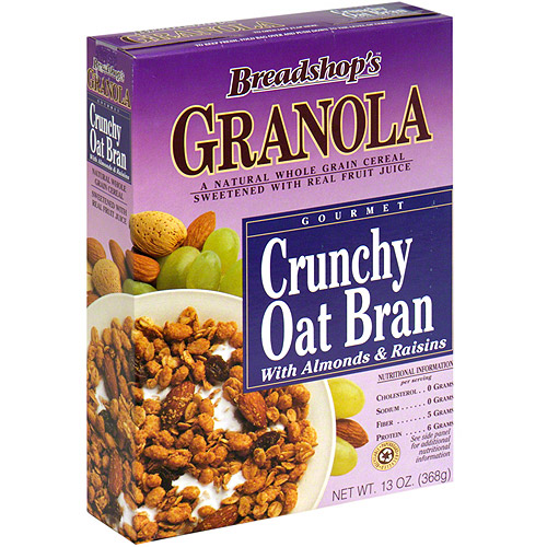 Arrowhead Mills Breadshop Crunchy Oat Bran Granola, 13 oz (Pack of 6)
