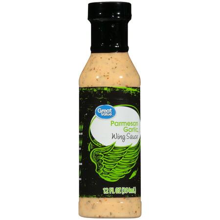 Great Value Parmesan Garlic Wing Sauce 12 Fl Oz Walmart Com