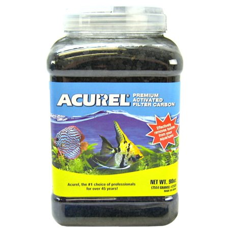 Carbon Pond Filter (Acurel Llc Premium Activated Filter Carbon Aquarium And Pond Filter Accessory 90-Ounce (Pack of)