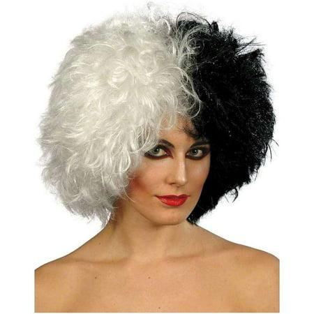 Short Black Evil Madame Adult Costume Wig (Evil Queen Adult Wig)