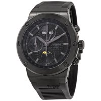FERRAGAMO Salvatore F-80 Chronograph Automatic Moon Phase Black Dial Men's Limited Edition Watch