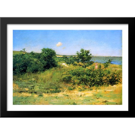 Shinnecock Hills, Peconic Bay 38x28 Large Black Wood Framed Print Art by William Merritt Chase