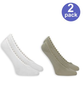 Women's For Her Fashion Fit Ghost Liner Socks, 2-Pack