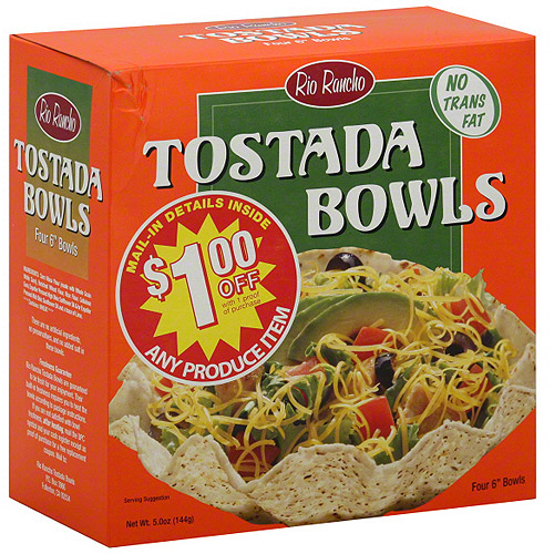 Rio Rancho Tostada Bowls, 5.0 oz, 4ct (Pack of 6)