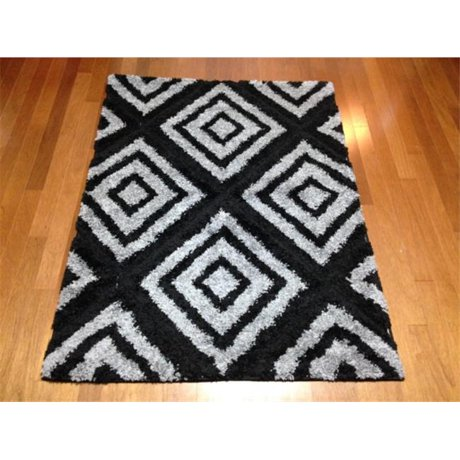 Ims 2852508600507 geometric contemporary pattern shag area for Geometric print area rugs