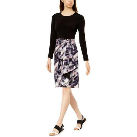 Dkny Womens Printed-Skirt A-Line Dress Flattering A-line Dress