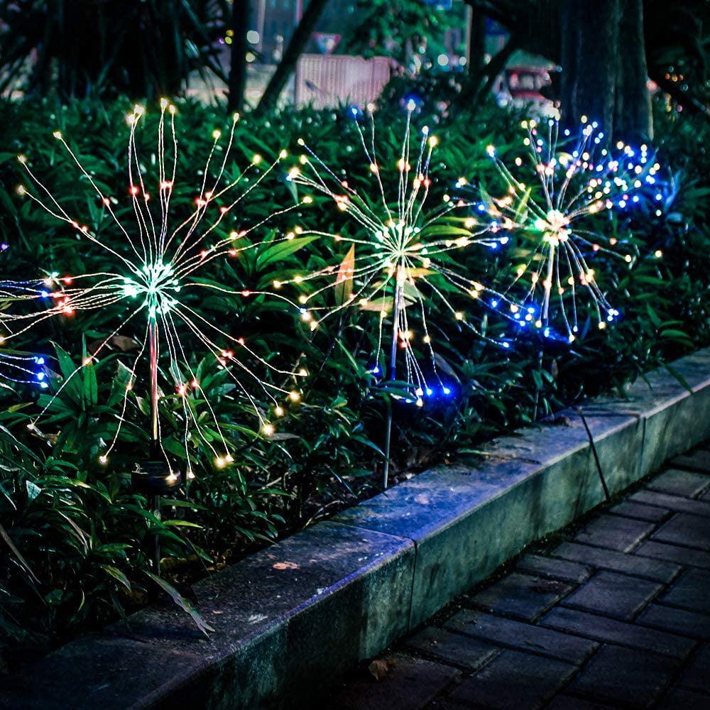 150//90 LED Solar Firework Lights Waterproof Outdoor Path Lawn Garden Lamp Decor