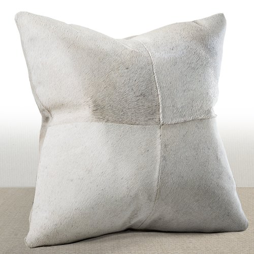 Chauran Del Rey Leather Throw Pillow