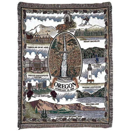 Simply Home State Of Oregon Tapestry Throw (RTP007743) ()