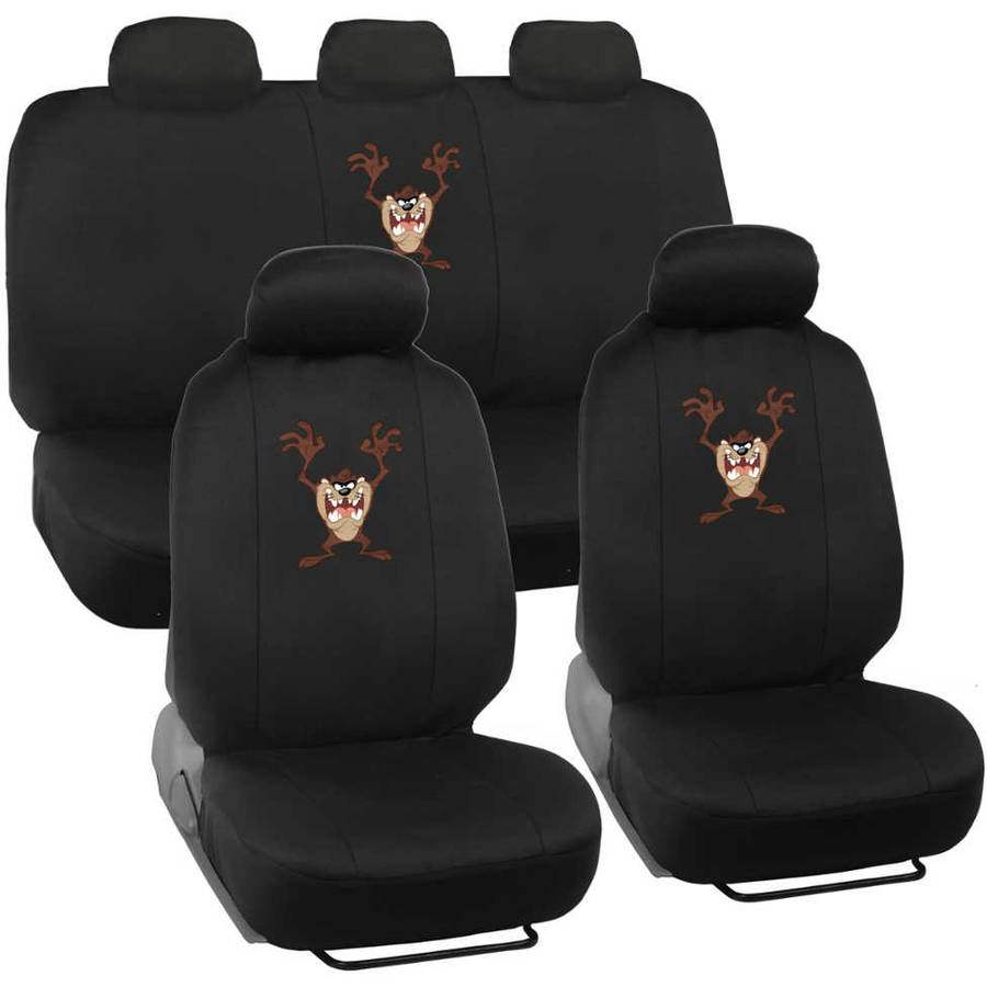 Taz Tasmanian Seat Covers for Car and SUV, Auto Interior Gift Full Set, Warner Brothers