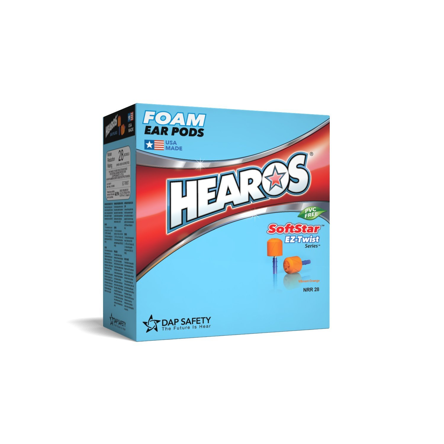 HEAROS 7312 SoftStar Series Ear Pods with EZ Twist Grip Box of 100