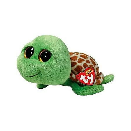 TY Beanie Boos -Zippy Green Turtle  (Glitter Eyes) Small 6