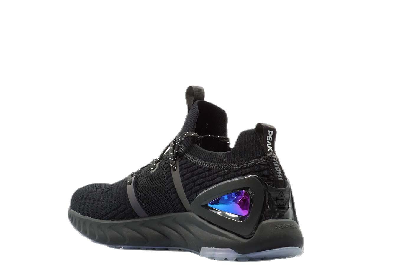 E93577 Mens Peak Taichi x MIB International Black Nebula Running Shoes