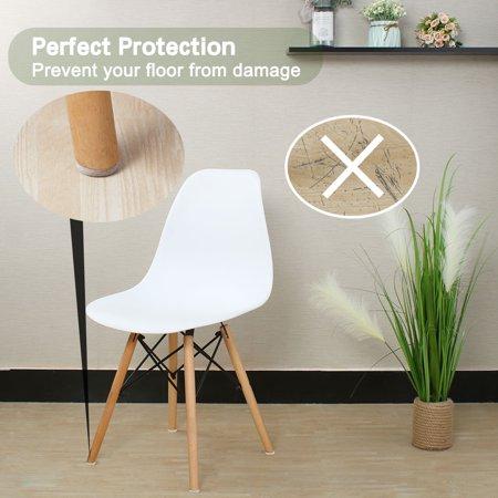 "Felt Furniture Pad Round 1 1/4"" Self Adhesive Anti-scratch Chair Protector 50pcs - image 4 de 7"