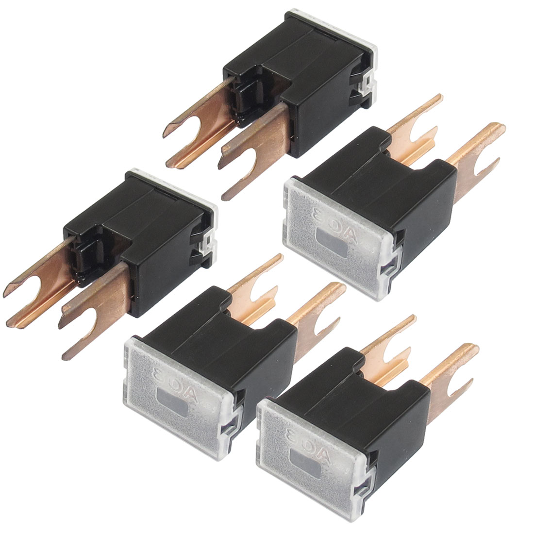 5 Pcs Auto Connecting Style 80A PAL Slow Blow Fuse Black