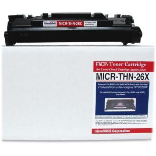 Micromicr Micr Toner Cartridge - Replacement For Hp [26x] - Black - Laser - 9000 Page - 1 Each (micrthn26x)