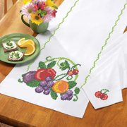 Herrschners®  Bright Fruit Table Runner & Napkins Stamped Cross-Stitch