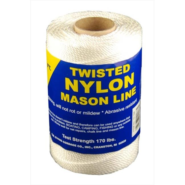 T. W.  Evans Cordage 10-244 Number 24 Twisted Nylon Mason Line with 156 ft.