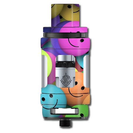 Skin Decal For Smok Tfv12 Cloud Beast King Tank Vape Mod / Colorful Smiley Faces Balls