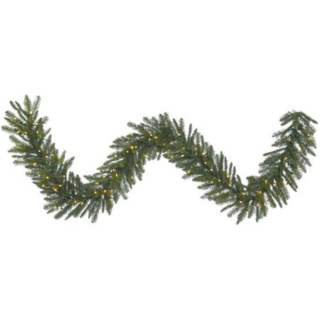 Vickerman 9' Durango Spruce Artificial Christmas Garland with 100 Warm White LED Lights ()