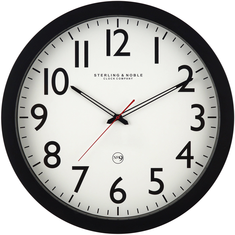 Mainstays 20 Quot Black Wall Clock Walmart Com