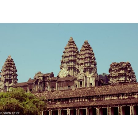 Canvas Print Statue Cambodia Smile Nice SIEM Reap Angkor Wat Stretched Canvas 32 x 24 (Nice Statue)