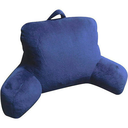 Mainstays Micro Mink Plush Backrest Lounger Pillow Indigo