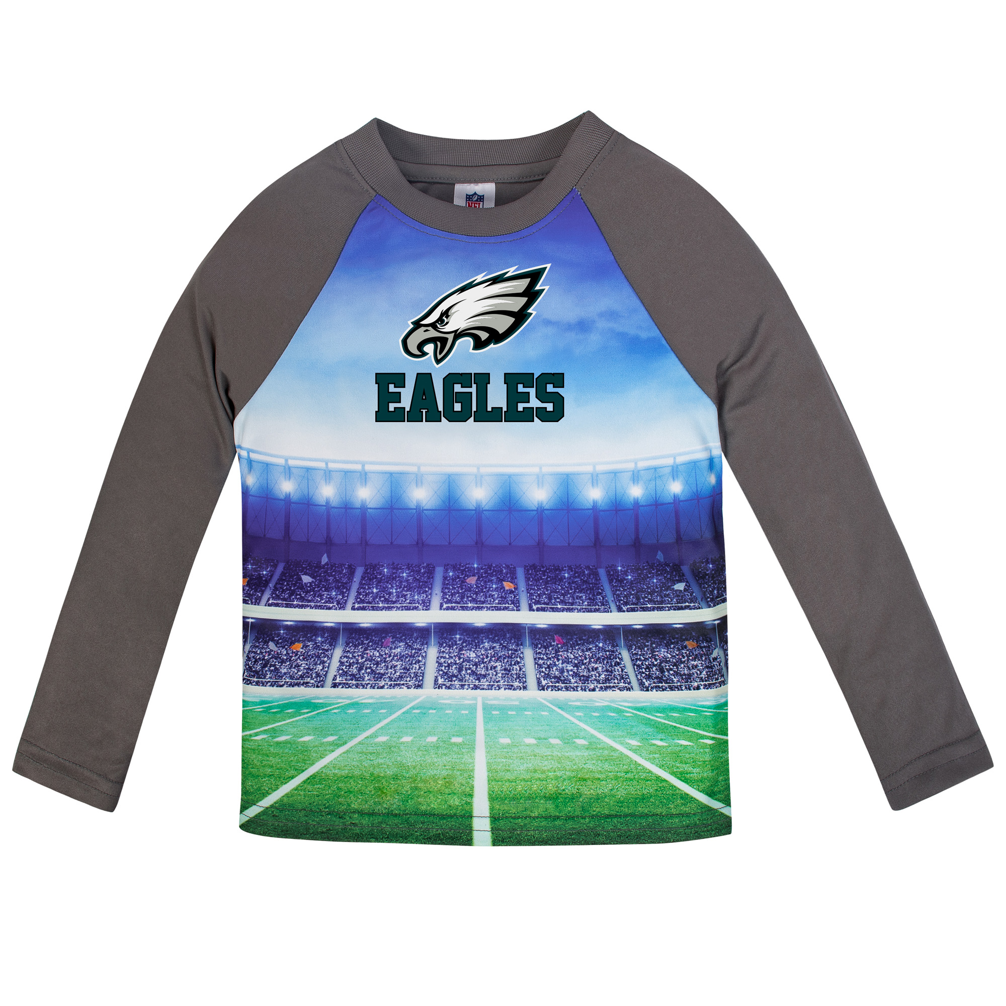 Infant Gerber Gray Philadelphia Eagles Long Sleeve Stadium T-Shirt