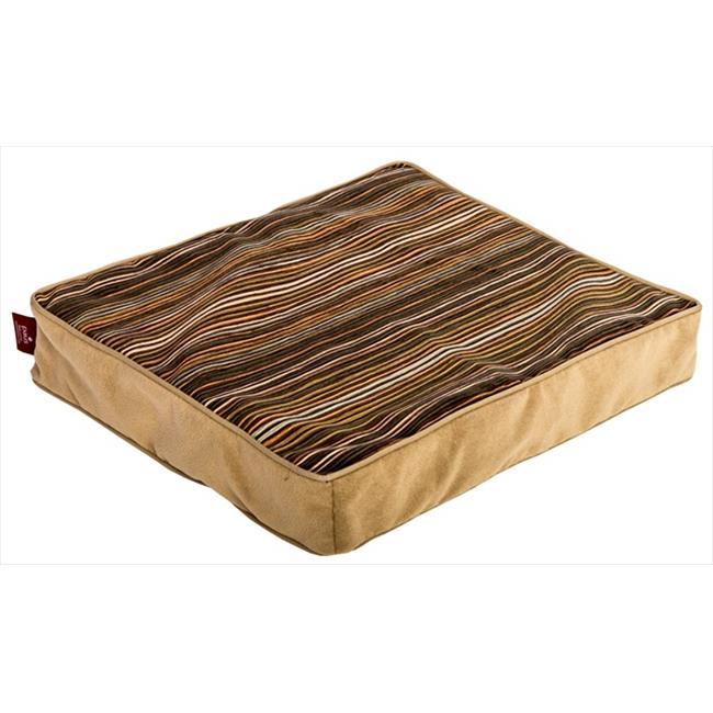 DenHaus BEDHH01 Small TownHaus Dog Bed in Multi-Stripe and Tan