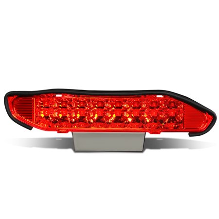 For 2000 to 2004 Nissan Xterra WD22 High Mount Dual Row LED 3rd Third Tail Brake Light Rear Stop Lamp Red Housing 01 02