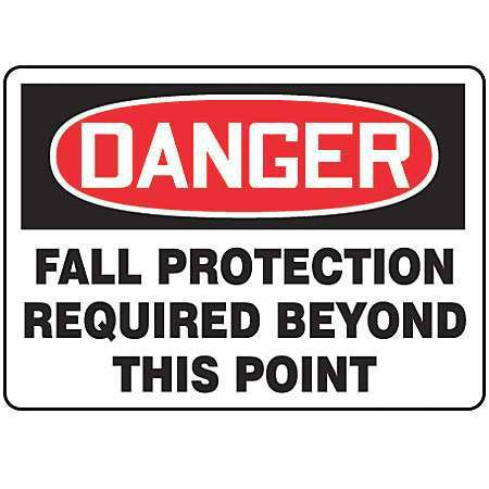 ACCUFORM SIGNS MFPR104VS Danger Sign, 7 x 10In, R and BK/WHT, ENG