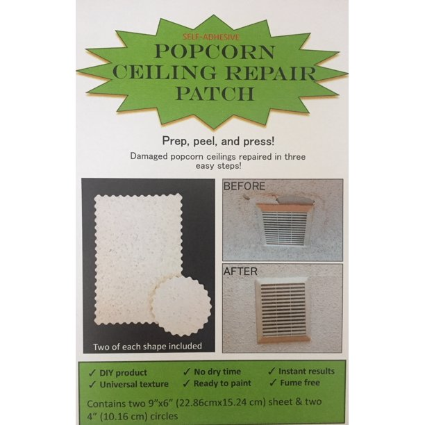 Popcorn Ceiling Repair Patch Self