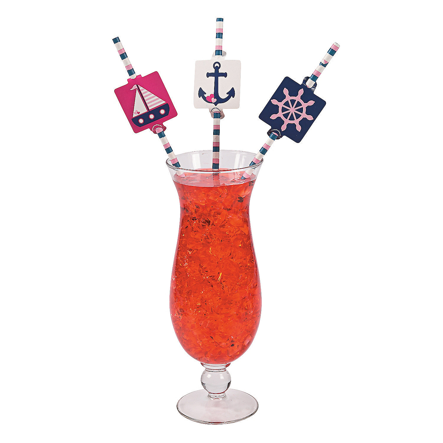 IN-13733975 Nautical Girl Paper Straws