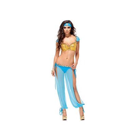 Forplay Jazzy Jezebel Costume 552432 Turquoise (Jazzy Jeff Halloween)