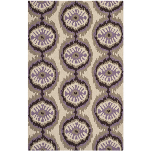 Rectangle Rug in Purple (5 ft. 6 in. L x 3 ft. 6 in. W)