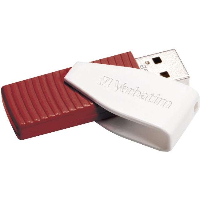 Verbatim 16GB Store 'n' Go Swivel USB Drive, Red