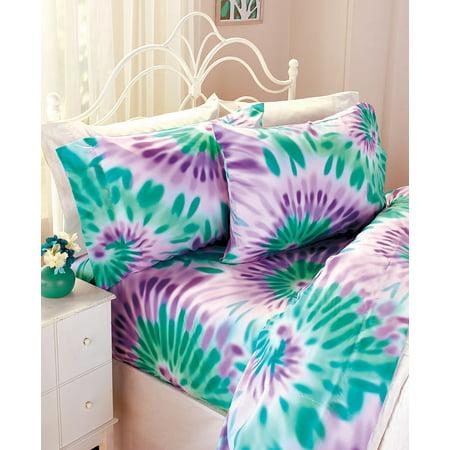 Good Vibes Tie-Dye Sheet Sets - Sky Full