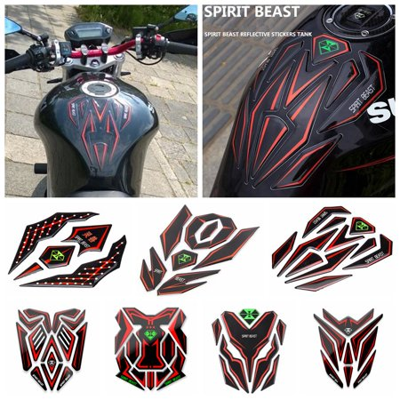 3D Motorcycle Reflective Sticker Fuel Tank Protector Pad Cover Sticker for Honda KTM Yamaha 01 -