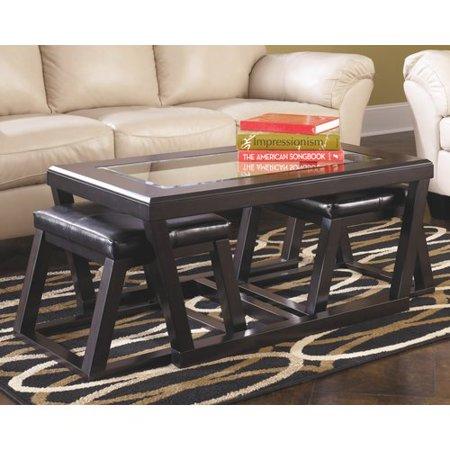 Laude Run Parodi Coffee Table With 2 Nested Stool Set Of 3