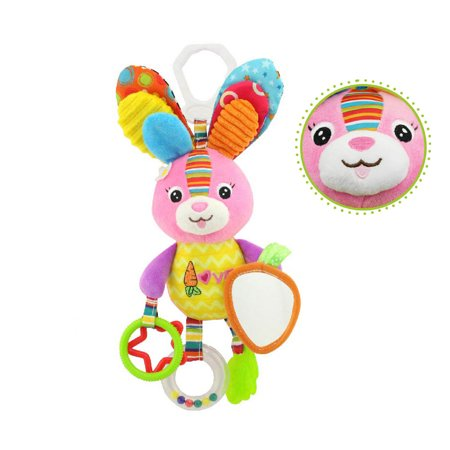 Tuscom Baby Stroller Hanging Toy Plush Animal Rattle Bed Bell Infant Baby Comfort