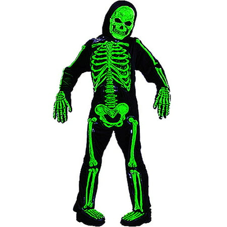 Green Skelebones Child Costume - Green Jester Costume