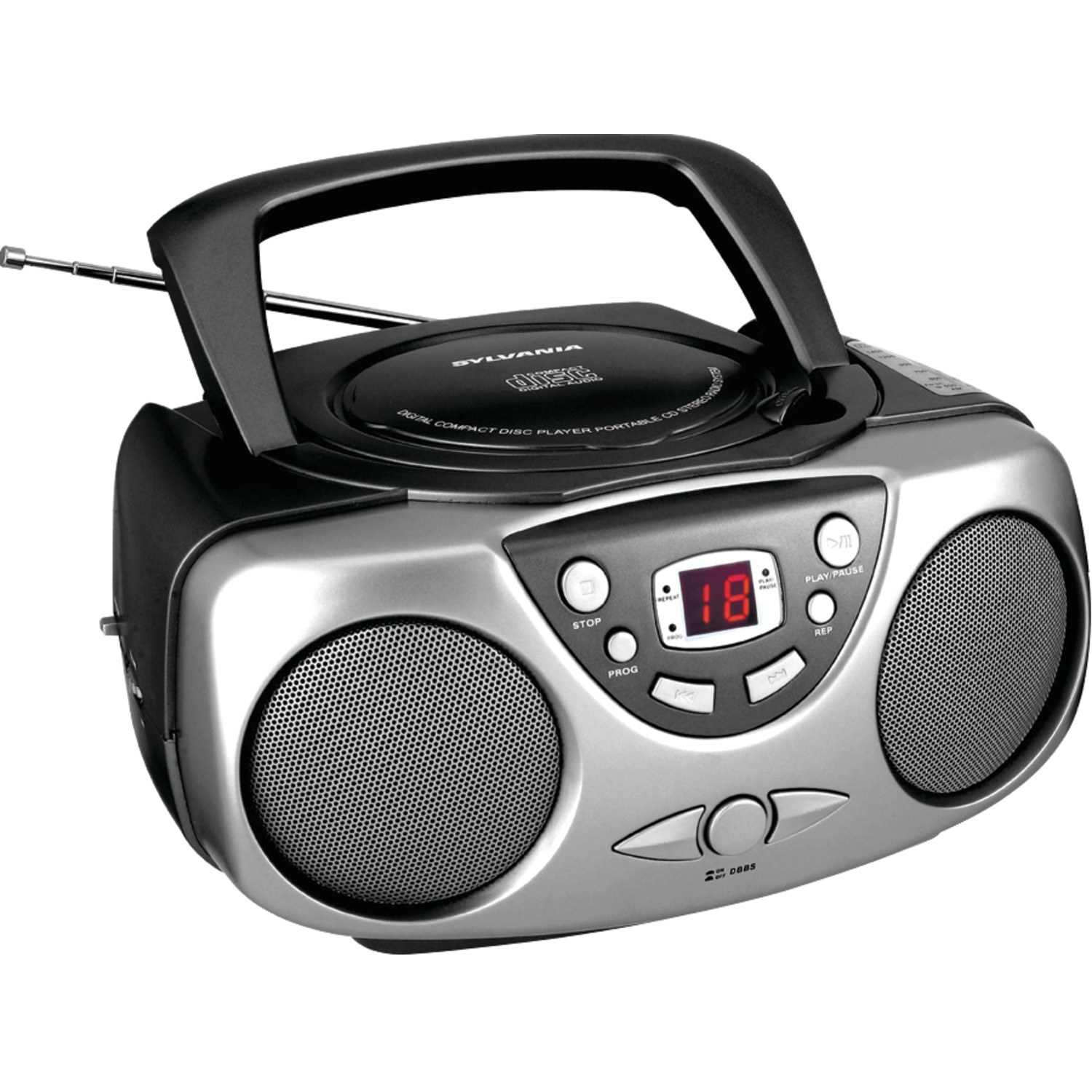 Sylvania Portable Cd Boombox And Am/fm Radio & Upg Super Heavy-duty Battery Box