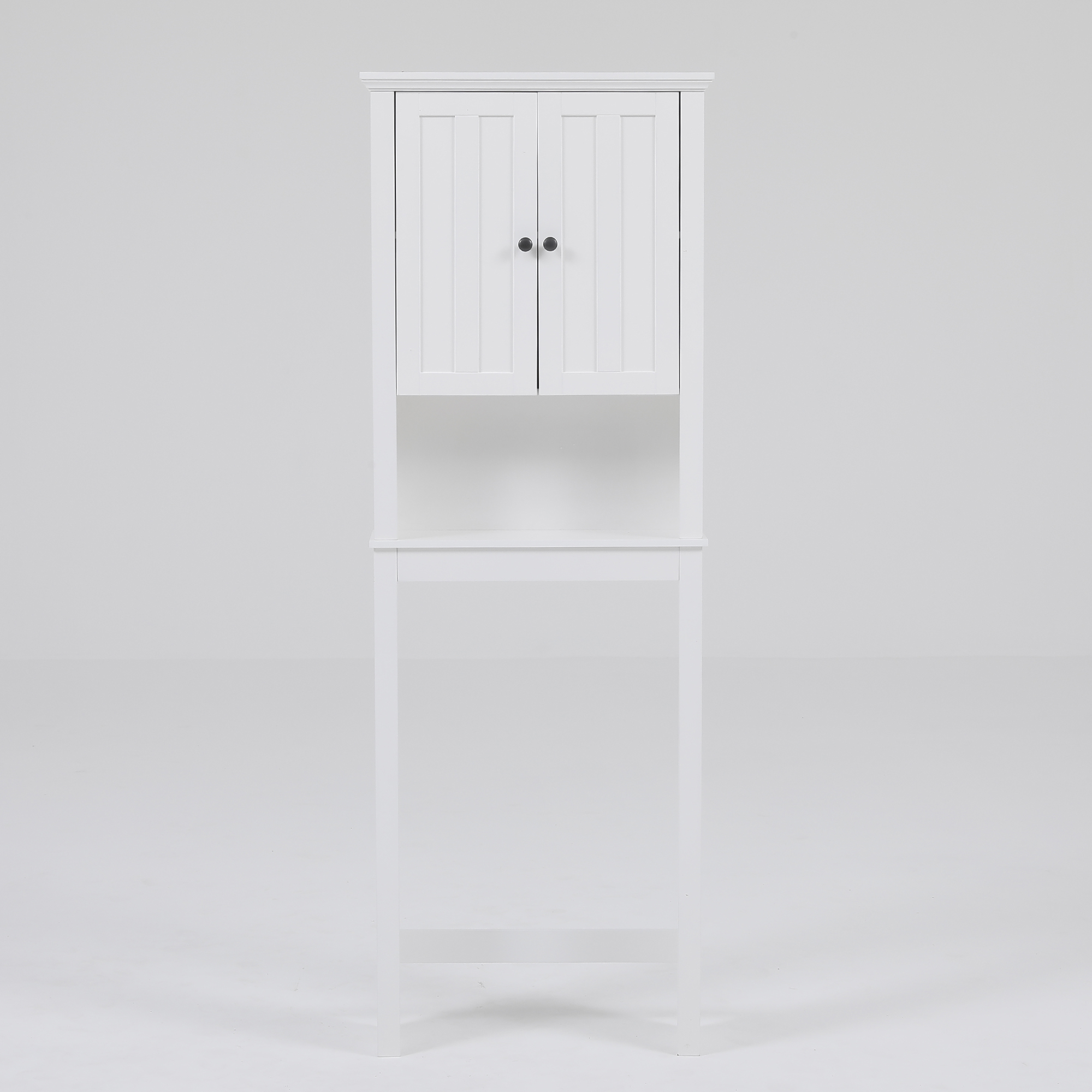 White Wood Spacer Bathroom Cabinet